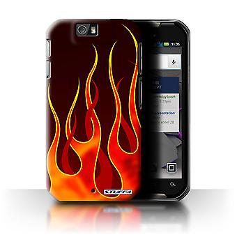 STUFF4 Case/Cover for Motorola IronRock/XT626/Red/Orange/Flame Paint Job