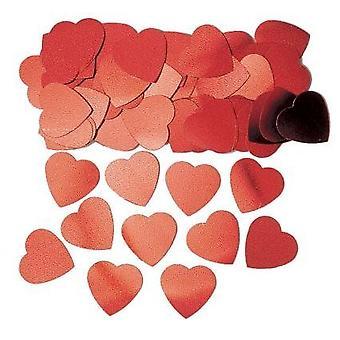 Jumbo hjärtformade röda konfetti bordsdekoration 14g