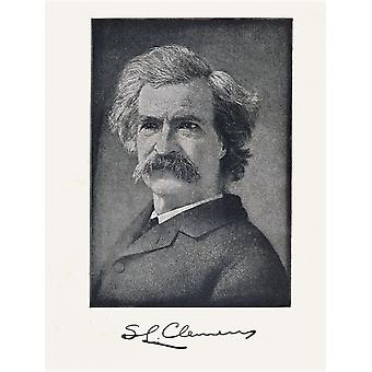 Mark Twain Pseudonym Of Samuel Langhorne Clemens 1835 To 1910 American Author PosterPrint