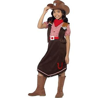 Smiffys Deluxe Cowgirl Costume With Top Skirt Hat And Necktie (Kostuums)