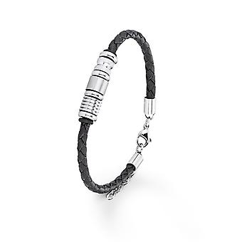 s.Oliver jewel mens leather bracelet titanium SO612/1 - 383615