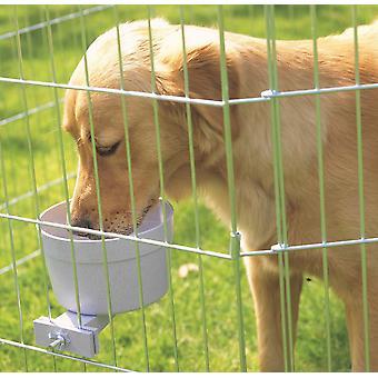 Lerkruka mat & vattenskål för hund bur jätte 1200ml