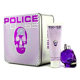 Politiet skal Coffret: Eau De Parfum Spray 75ml/2,5 oz + Body Lotion 100 ml/3,4 oz 2pcs
