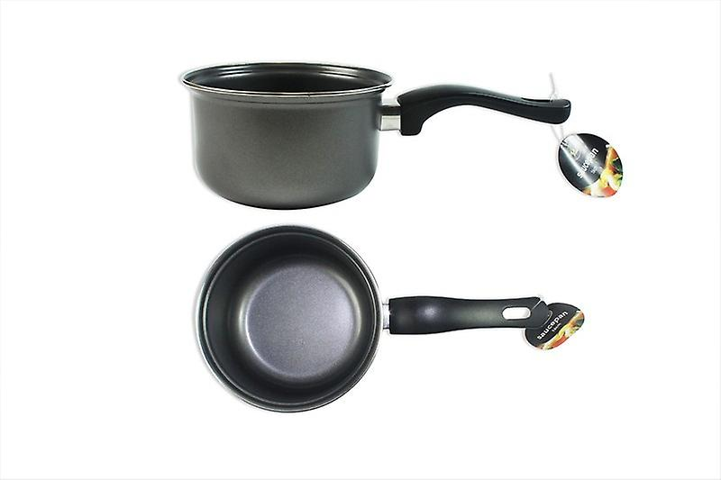 Sauce Pan Non-Stick 16cm Grey Carbon Stee Perfect for Kitchen Use