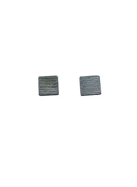 Minimalistische statement oorbellen vierkant zilverkleurig