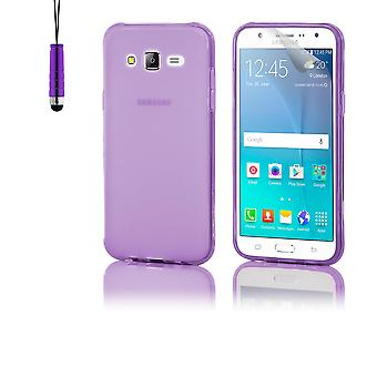 Crystal Gel case + stylus for Samsung Galaxy J5 (2015) SM-J500 - Purple