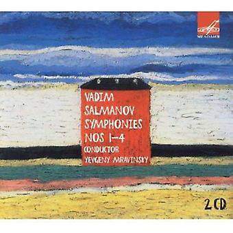 Salmanov - Vadim Salmanov symfonier 1-5 [CD] USA import