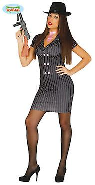 Guirca Disfraz Gangster Mujer Talla Spandex One Size (Costumes)