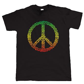 Rasta Peace Symbol, Mens T-Shirt
