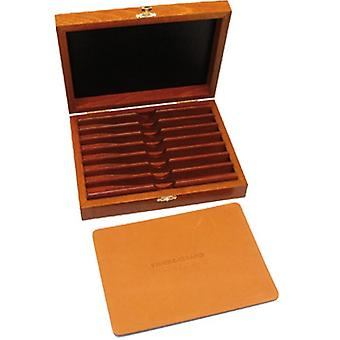 Superbox in varnished beech for 7 days straight razors set or collection Direct from France