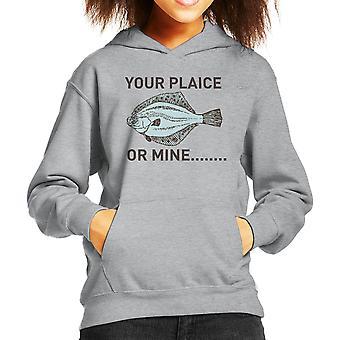 Your Plaice Or Mine Kid's Hooded Sweatshirt
