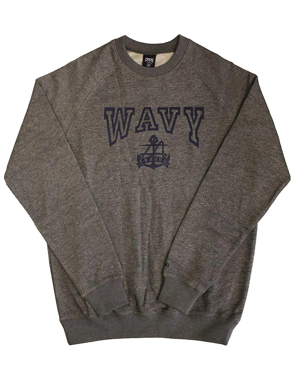 Crooks & Castles Wavy Sweatshirt Speckle Grey