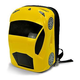 Officielle Lamborghini sportsvogn børn skole rygsæk rygsæk taske - gul