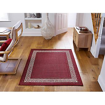 Grekiska Key Flatweave röd rektangel mattor Plain/nästan slätt mattor
