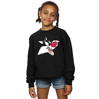 Looney Tunes piger Sylvester Face Sweatshirt