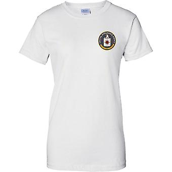 Central Intelligence Agency - CIA - US Spy Agency - Cool - Ladies Chest Design T-Shirt