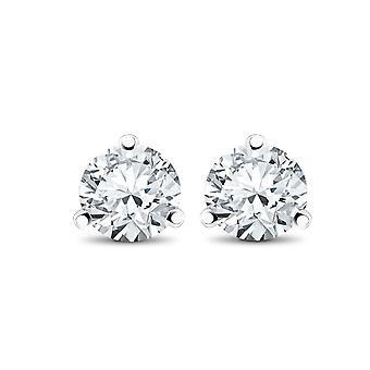 Espárragos de 1/3 ct TDW Martni de 3 puntas de diamante