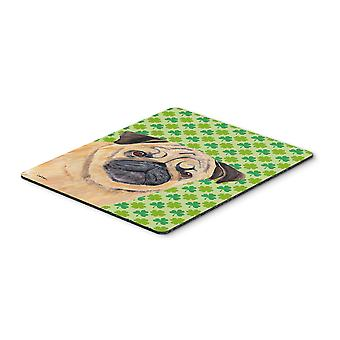 Mops St. Patricks Day Shamrock Portrait Mouse Pad, Hot-Pad oder Untersetzer