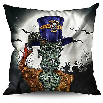 Sir Hat Apocalypse Zombie Linen Cushion Sir Hat Apocalypse Zombie | Wellcoda