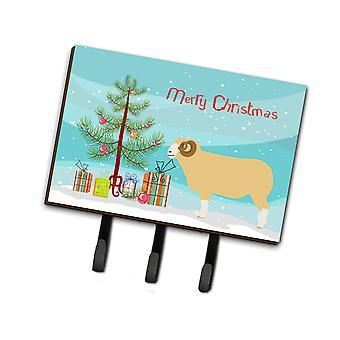 Horned Dorset Sheep Christmas Leash or Key Holder