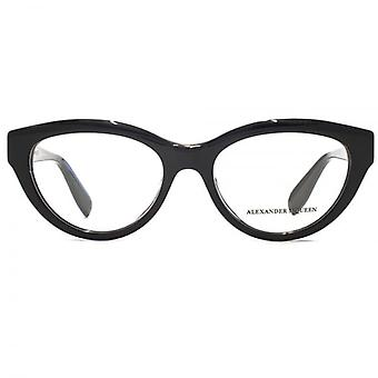 Alexander McQueen Edge AM0045 Glasses In Black