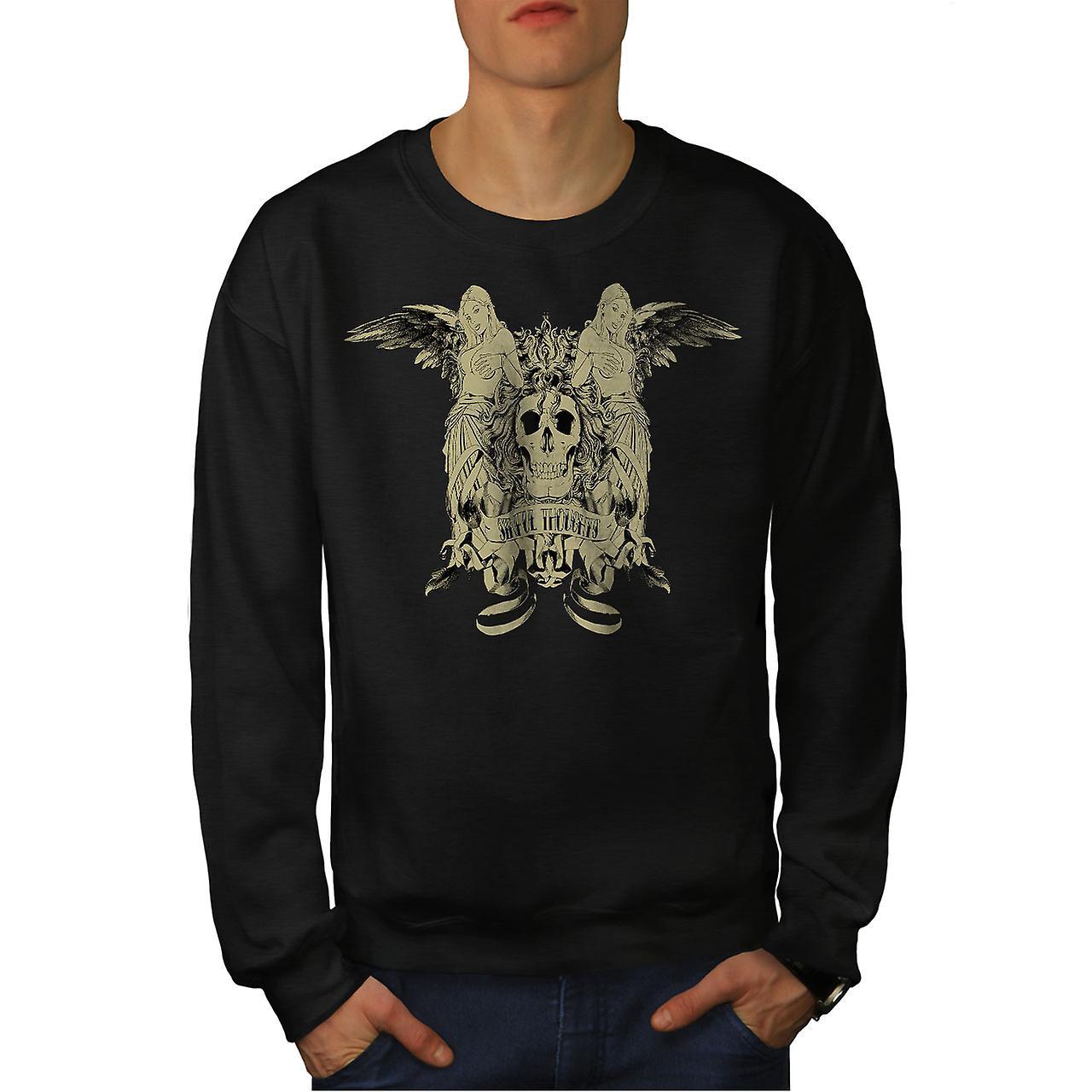 Sündige Gedanken Sexy Skull Männer BlackSweatshirt   Wellcoda