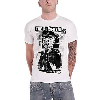 The Libertines T Shirt Albion to Utopia Album Band logo Official Mens New White