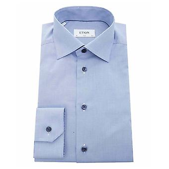 Eton Contrast Button Puppy Tooth Slim Fit Shi