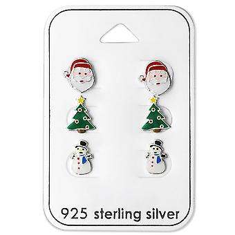Christmas - 925 Sterling Silver + Epoxy Colour Sets