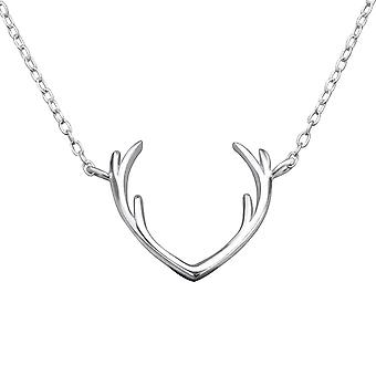 Antler - 925 Sterling Silver Plain Necklaces