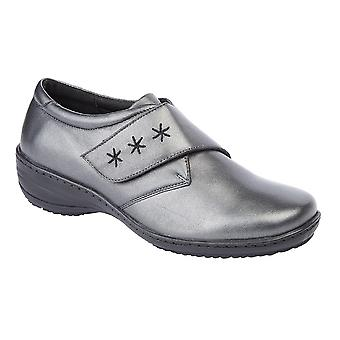 Mod Comfys Womens/Ladies Memory Foam Leather Touch Shoe