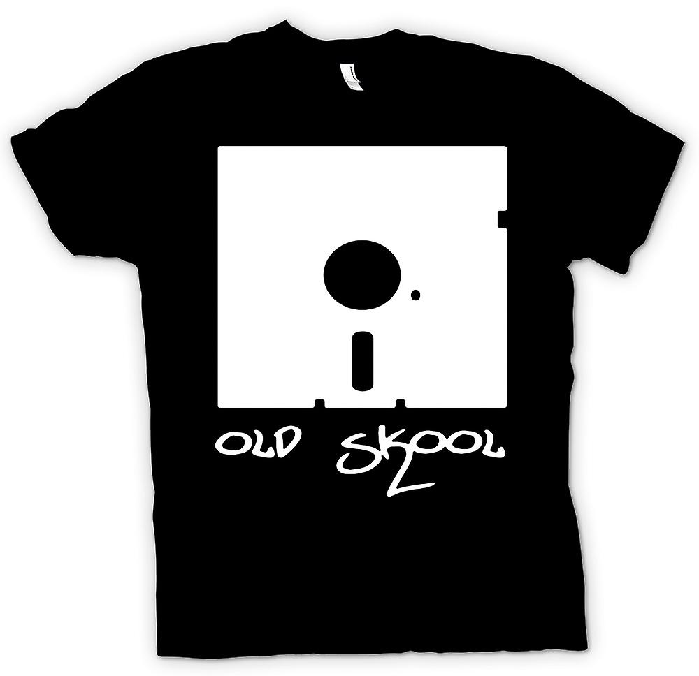 Womens T-shirt - Old Skool Floppy Disc - rolig
