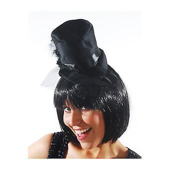 Haar Accessoires Hut Topper schwarze Kopfbedeckung burlesque