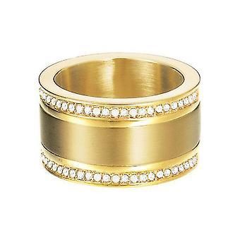 Esprit Damen Ring Edelstahl Gold Classy Pure ESRG12747B1