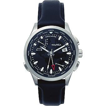 Nautica mens watch NAPSHG001 wristwatch leather