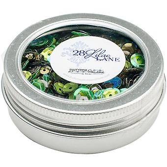 28 Lilac Lane Tin W/Sequins 40G-Redwood Grove