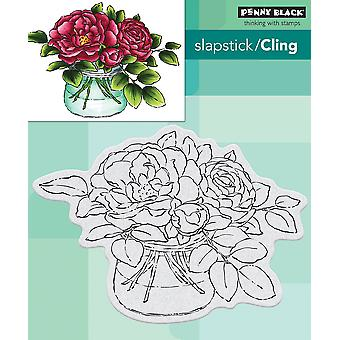 Penny Black Cling Stamps-Rose Bowl