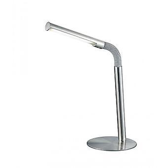 Trio oświetlenie nowoczesne Palo nikiel matowy Metal Lampa stołowa