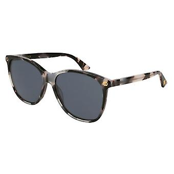 Gucci Havana Round Ladies Sunglasses - GG0024S-009