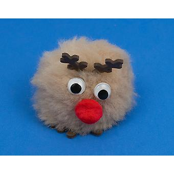 Who Ate All the Carrots Rudolph? Large littlecraftybug Craft Kit for 6 Kids