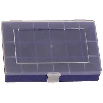 Caja surtido Hünersdorff (L x W x H) 250 x 180 x 45 mm no. de compartimentos: 18 compartimentos fijos