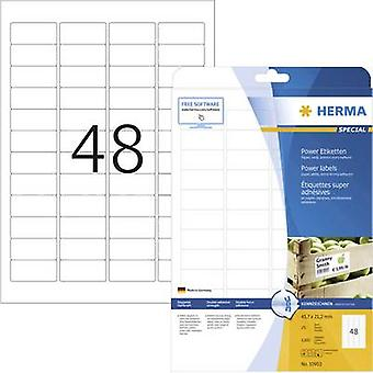 Herma 10902 Labels 45.7 x 21.2 mm Paper White