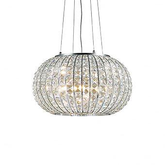 Ideal Lux Calypso 5 Lampe 42cm Kristall-Kugel-Anhänger