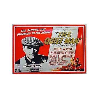 The Quiet Man John Wayne rood wit reliëf stalen teken