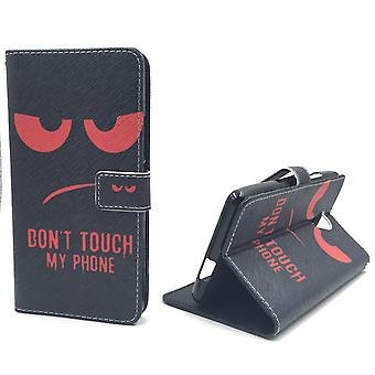 Mobile phone case pouch for mobile WIKO Robby dont touch my phone Red