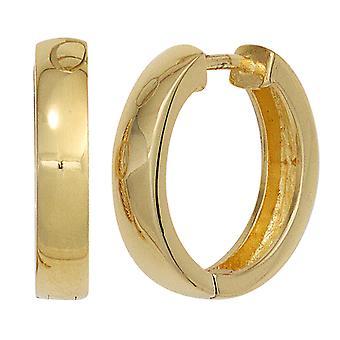 Hoop earrings earrings gold plated 925 Sterling Silver earrings silver Keywork