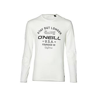 O'Neill LM Stay Out Long-Sleeve T-Shirt, Super White