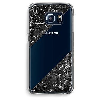 Samsung Galaxy S6 Edge Transparent Case (Soft) - Black marble