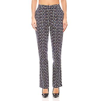 Ashley brooke graphical belly way-print trousers short size Navy