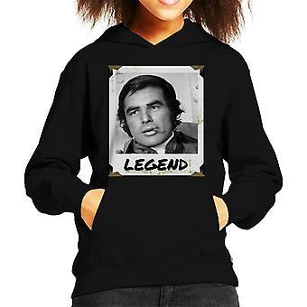 Burt Reynolds Legend Photo Kid's Hooded Sweatshirt
